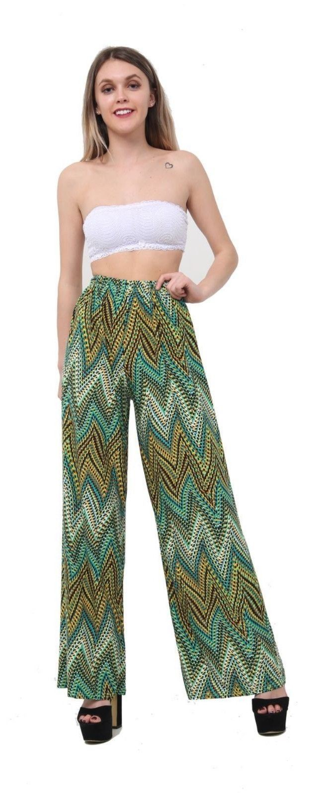 New-Ladies-Floral-Printed-Wide-Leg-Flared-Parallel-Baggy-Trousers-Pants-Palazzo thumbnail 13