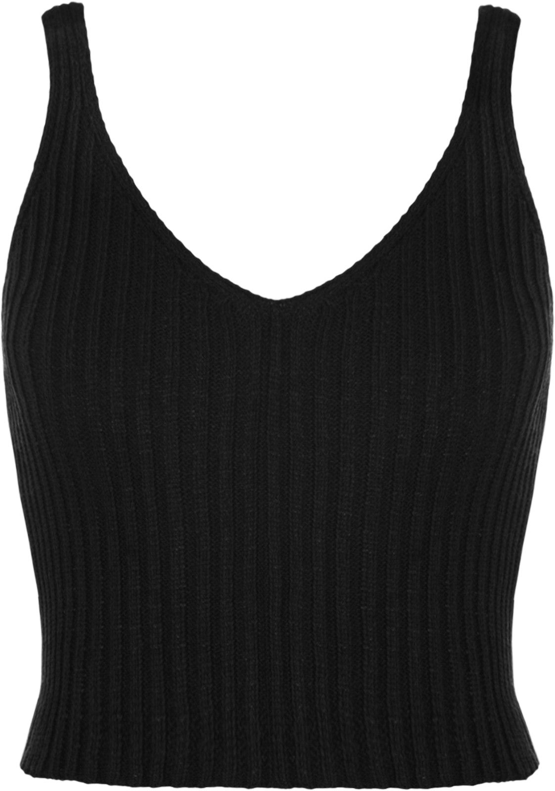 602340fb6a0 New Women Ladies V Neck Knitted Ribbed Plain Bralet Crop Top Sleeveless Vest  Top