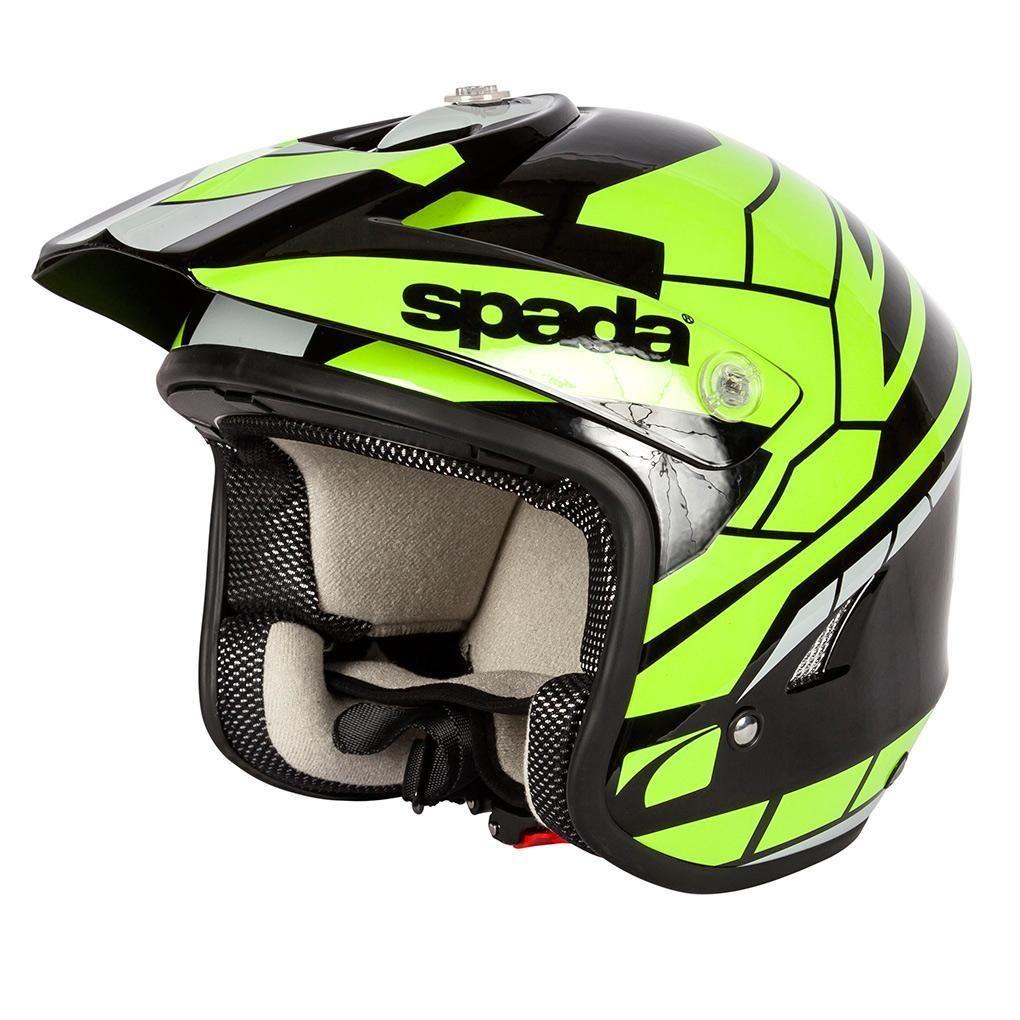 Spada-Cote-Chaser-Casque-Moto-Noir-et-Fluorescent miniature 13