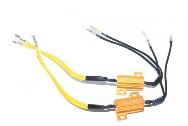 2x Résistance Performances de 25W Charge LED Mini Clignotant 6 Ohm