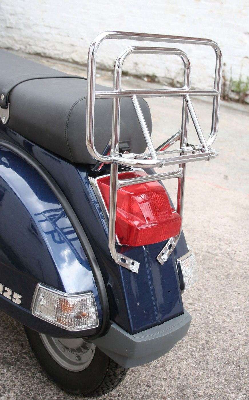 Vespa RMS portabauletto Rear Rack Chrome Vespa px-lml //Carrier Vespa Chromed px-lml Vespa Carrier Rack