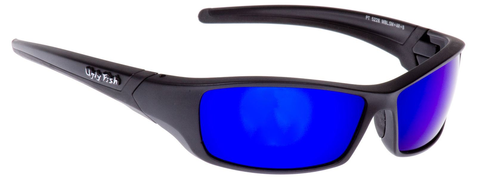 d83de8aa02 Ugly Fish Sunglasses Matt Black With Blue Lens Sports Shades Eyewear RS5228