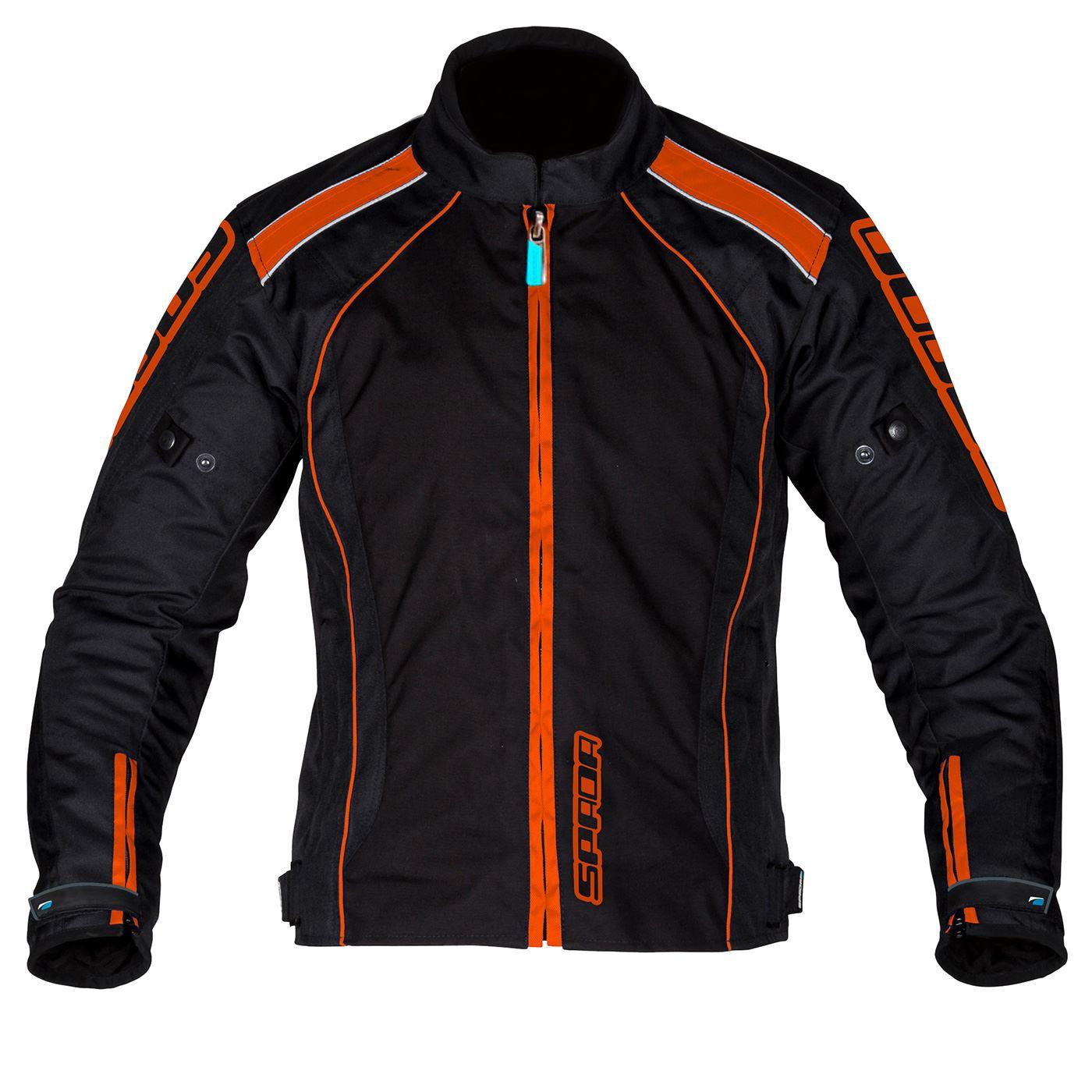 Spada-Plaza-Motorcycle-Jacket-Black-KTM-Orange-Waterproof-Thermal-M-2XL thumbnail 9