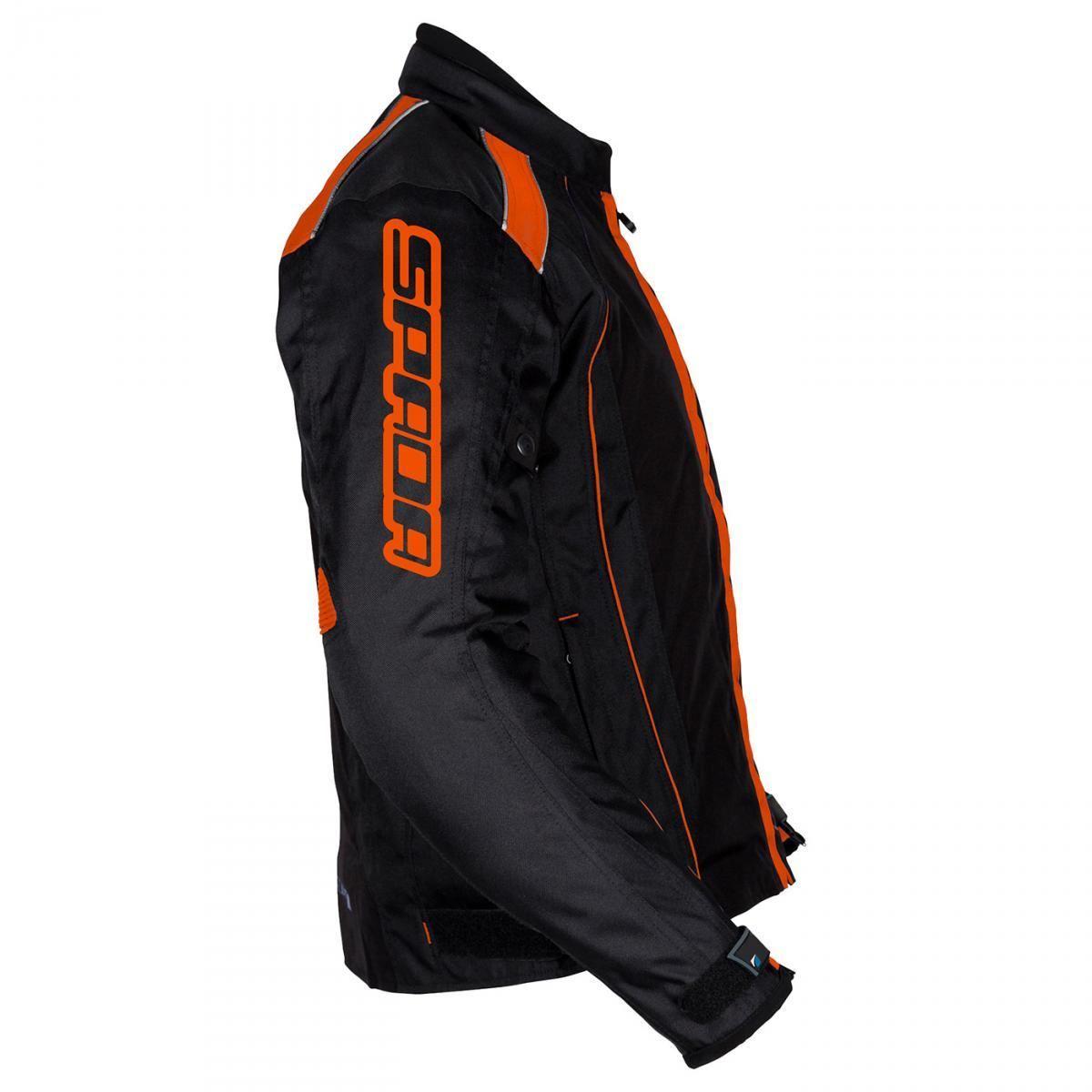 Spada-Plaza-Motorcycle-Jacket-Black-KTM-Orange-Waterproof-Thermal-M-2XL thumbnail 15