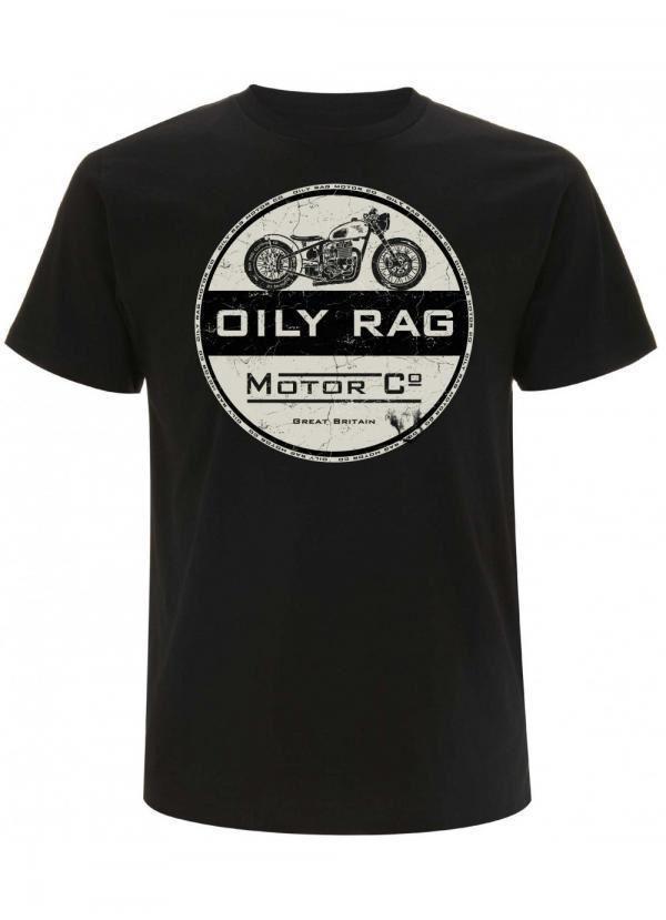 Huileux Rag vêtements cafe racer moto Biker T Shirt pour Homme