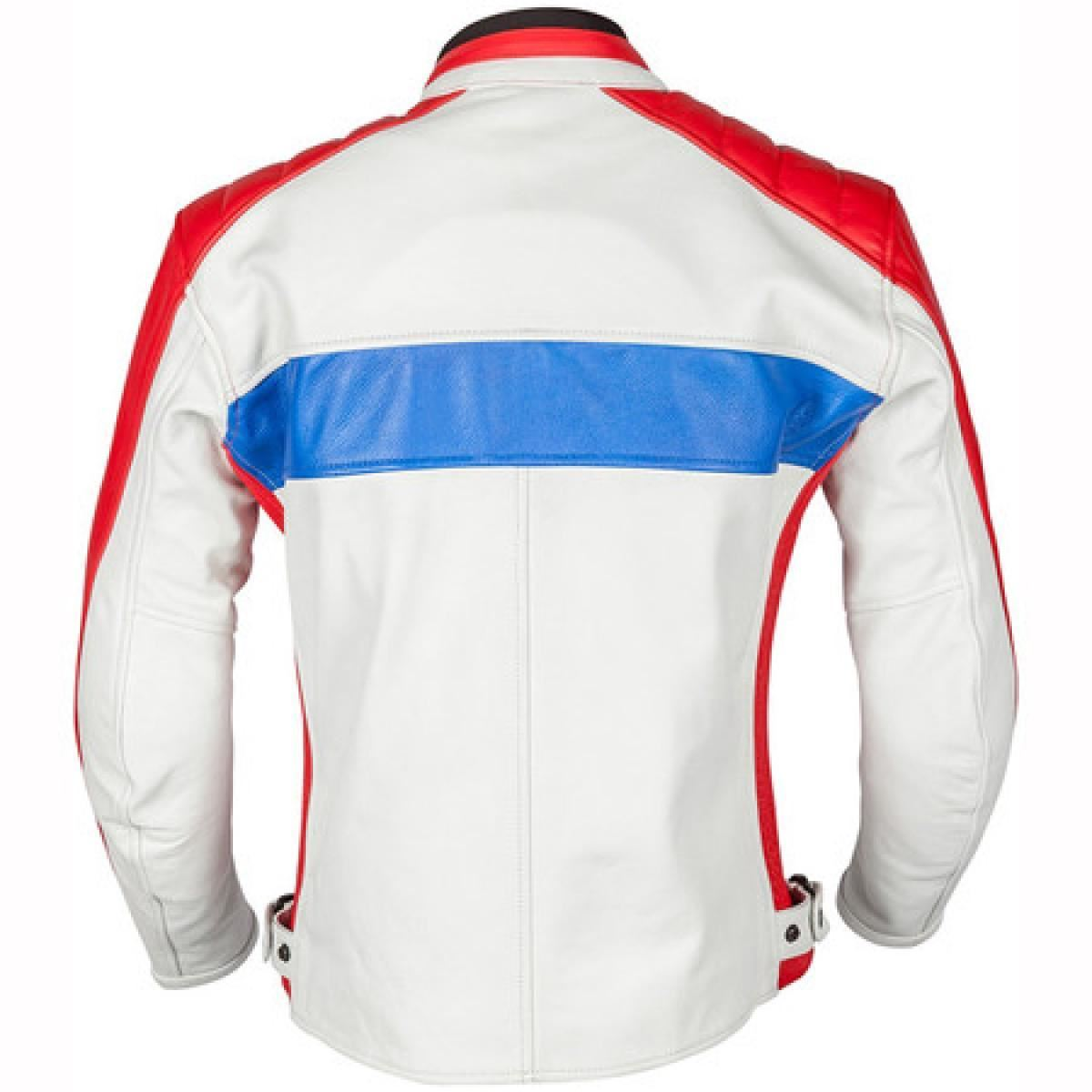 Spada-Turismo-Hommes-Veste-Moto-Blanc-Vintage-Impermeable-Renfort-Ce miniature 10