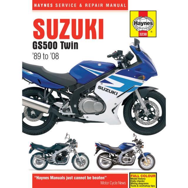 1989-2008 Suzuki GS500 GS500E GS500F GS 500 HAYNES REPAIR MANUAL 3238