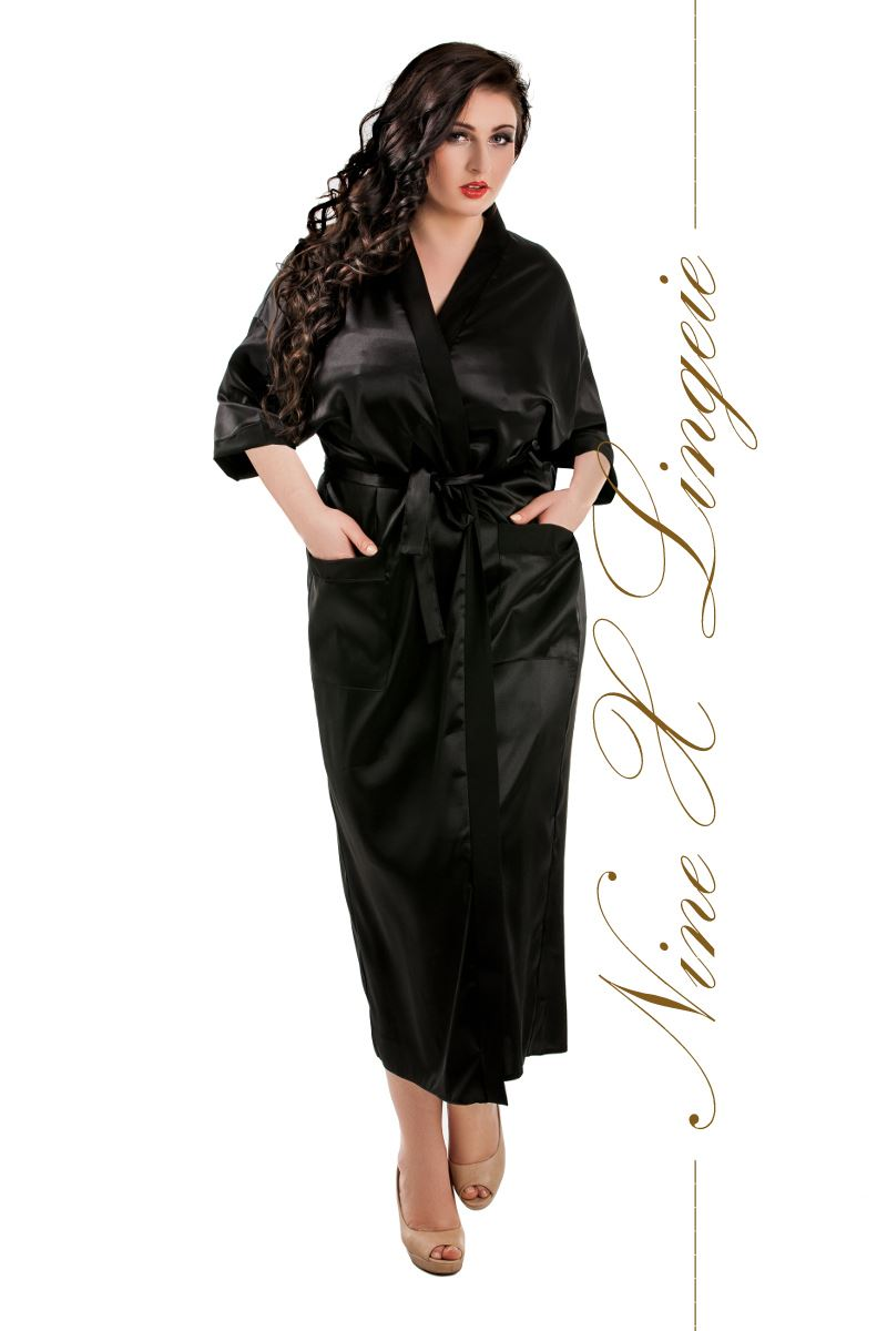Nine X Ladies Long Satin Kimono Bridal Dressing Gown Plus size 10-26 ...