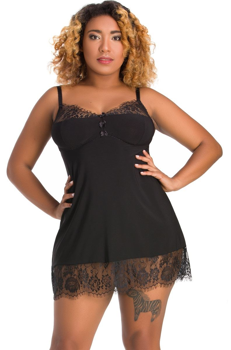 95fa5427367 Nine X Ladies Nightwear Plus Size Lingerie 12-26 L-7xl Babdoll Dress 24  Black. About this product. Picture 1 of 2  Picture 2 of 2