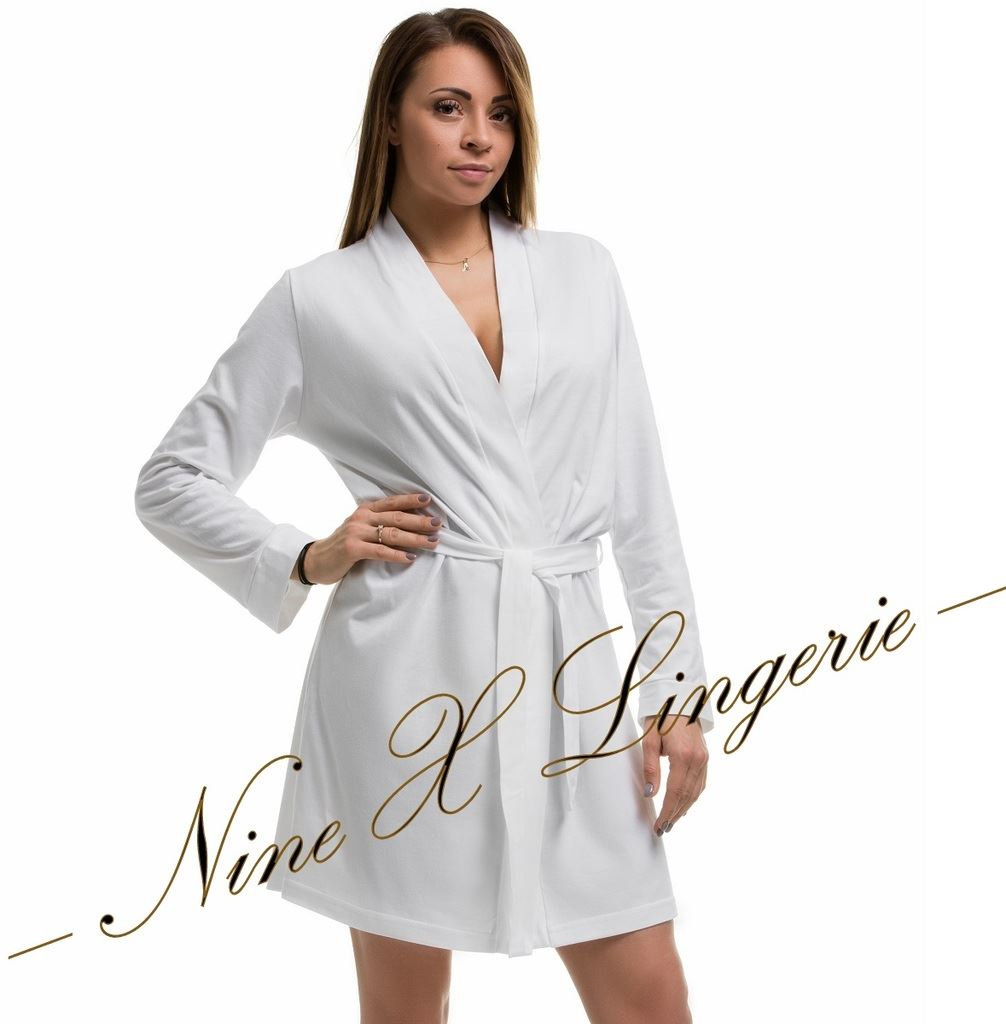 Nine X 100 Cotton Bath Robe Plus Size Dressing Gown Lingerie 8-24 ...
