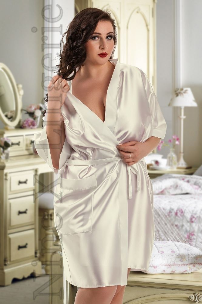 Nine X Satin Dressing Gown Plus Size 8-26 S-7XL Bridesmaid Robe Hot Pink