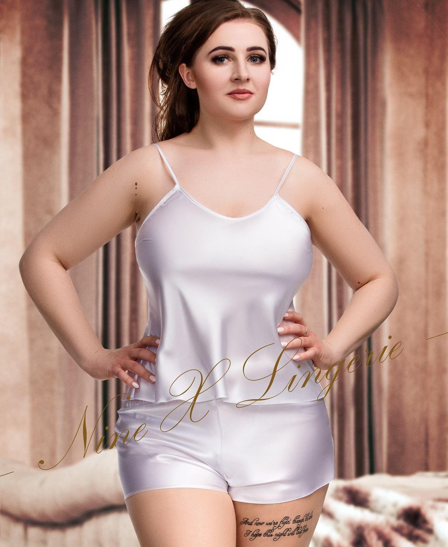 e06a82e8e6 Nine X Womens Satin PJ s Set Plus Size Lingerie Babydoll 8-24 Pyjama  Sleepwear