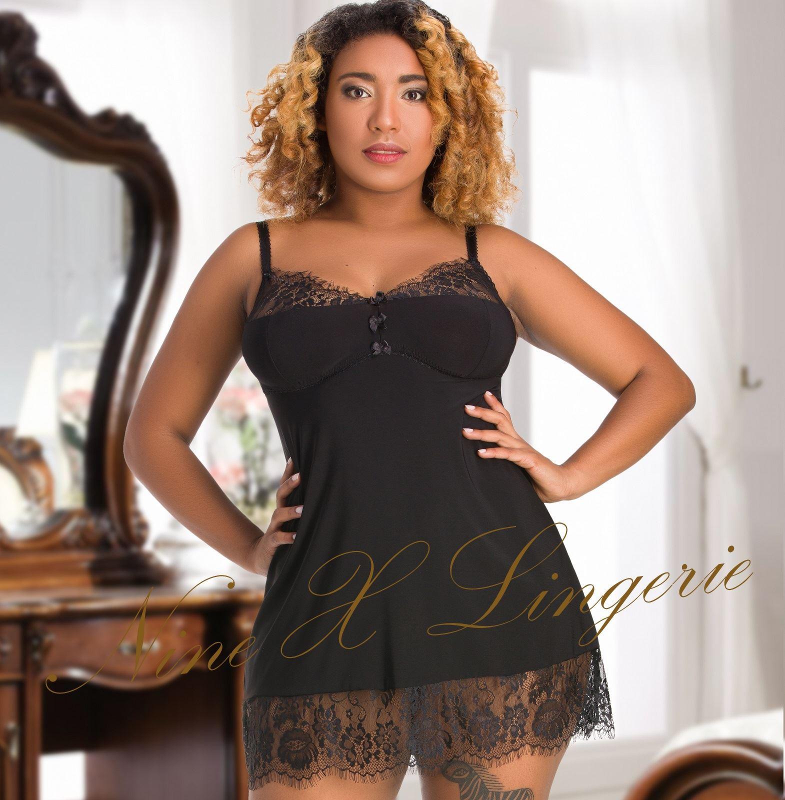 3b1a3c048a4 Nine X Women s Little Black Dress Plus Size Lingerie 12-26 L-7XL Babdoll  Nightie