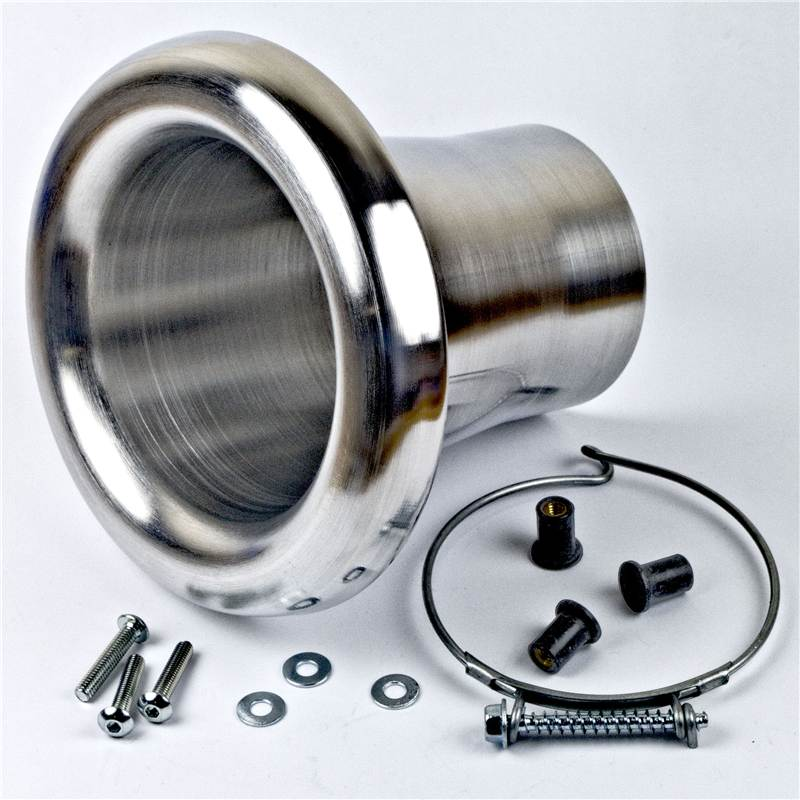 Revotec High Flow Aluminium Air Inlet//Ram Pipe To Fit 51mm ID//107mm OD
