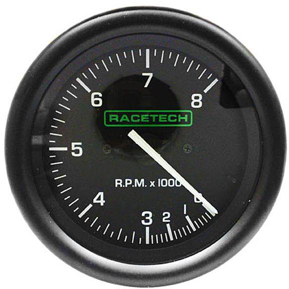 Selectable For 4//6//8 Cylinders 0-10,000 Rpm Racetech 80mm Tachometer//Rev Gauge