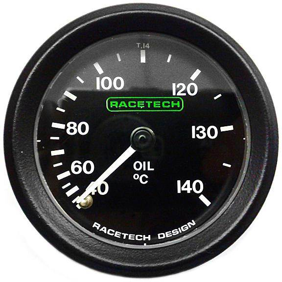 Racetech-Oil-Temperature-Gauge-Mechanical-Back-Light-amp-9ft-Capilary