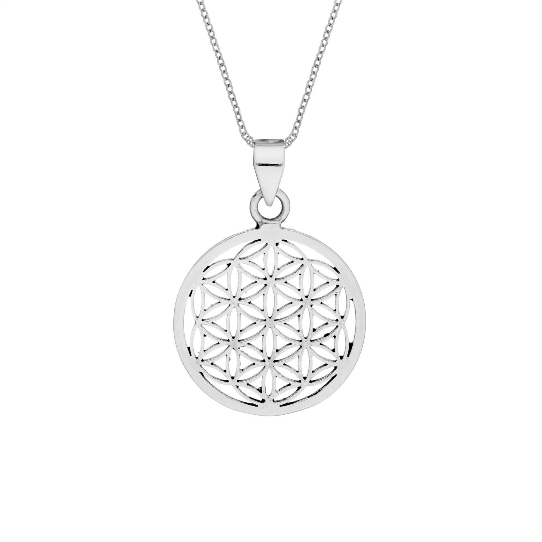 The Flower of Life Pendant Necklace Sterling Silver