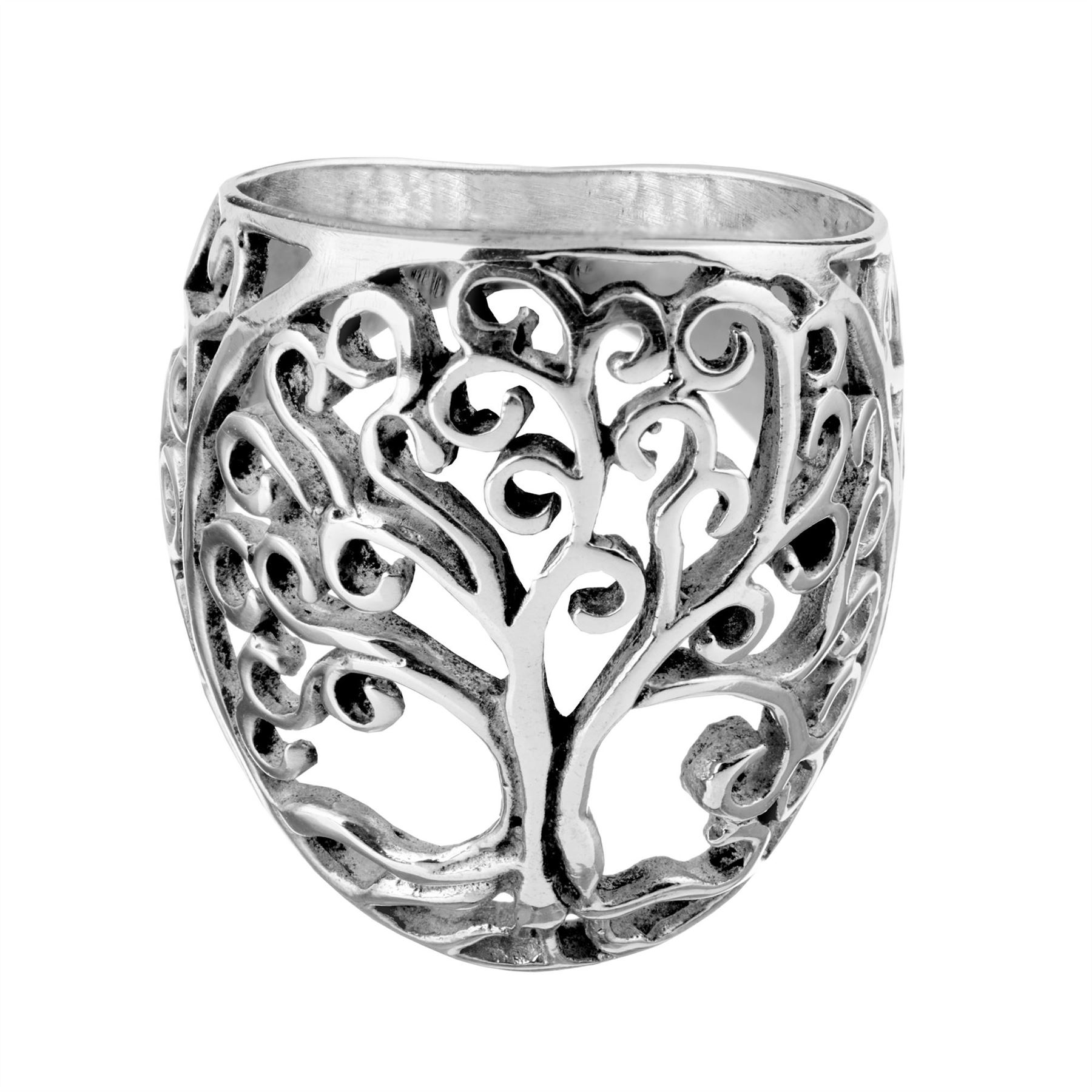 Silverly Women/'s .925 Sterling Silver 3 mm Round Celtic Tree of Life Ring