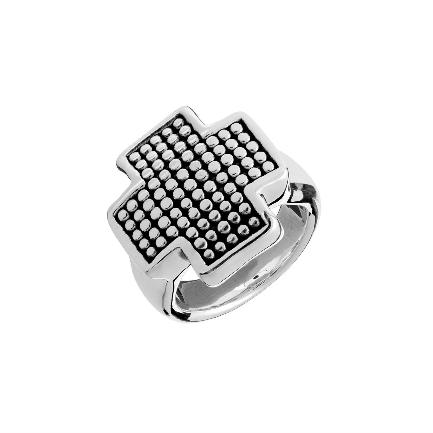 Silverly Womens Mens .925 Sterling Silver Om Aum Ohm Hindu Sanskrit Chunky Polished Ring
