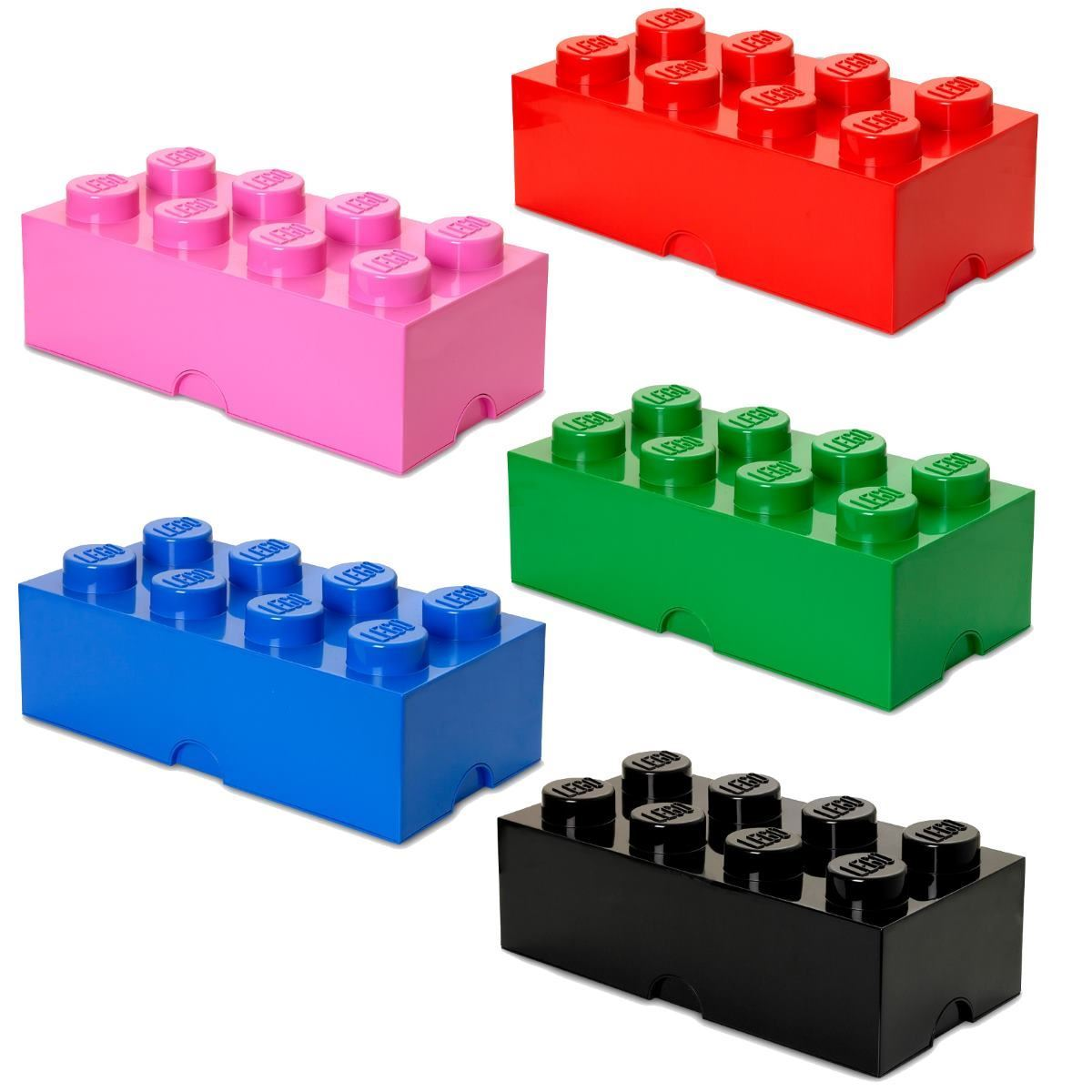 giant lego storage brick 8 building blocks gift kids large box 8 colours ebay. Black Bedroom Furniture Sets. Home Design Ideas