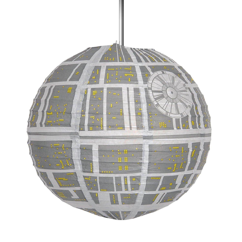 star wars todesstern licht schatten klappbar papier decke schirm offiziell merch ebay. Black Bedroom Furniture Sets. Home Design Ideas