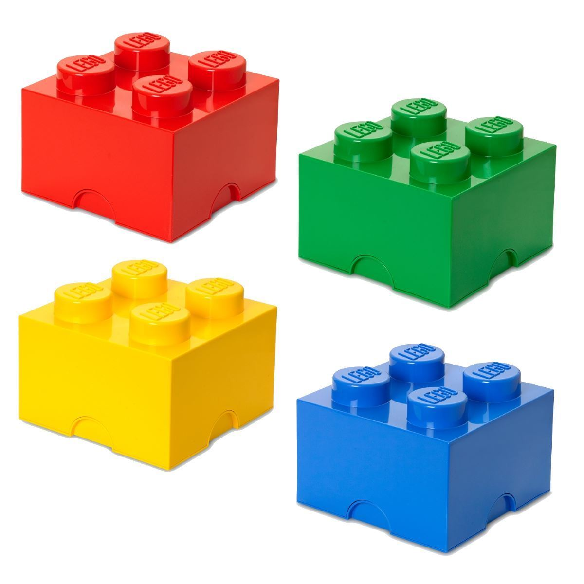 lego medium storage 4 brick red blue yellow green kid 39 s. Black Bedroom Furniture Sets. Home Design Ideas