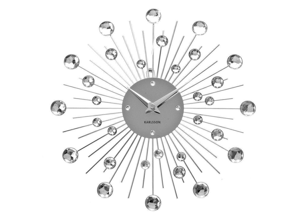 Karlsson sunburst crystal wall clock medium designer unique click on the image to enlarge karlsson sunburst crystal wall clock amipublicfo Choice Image