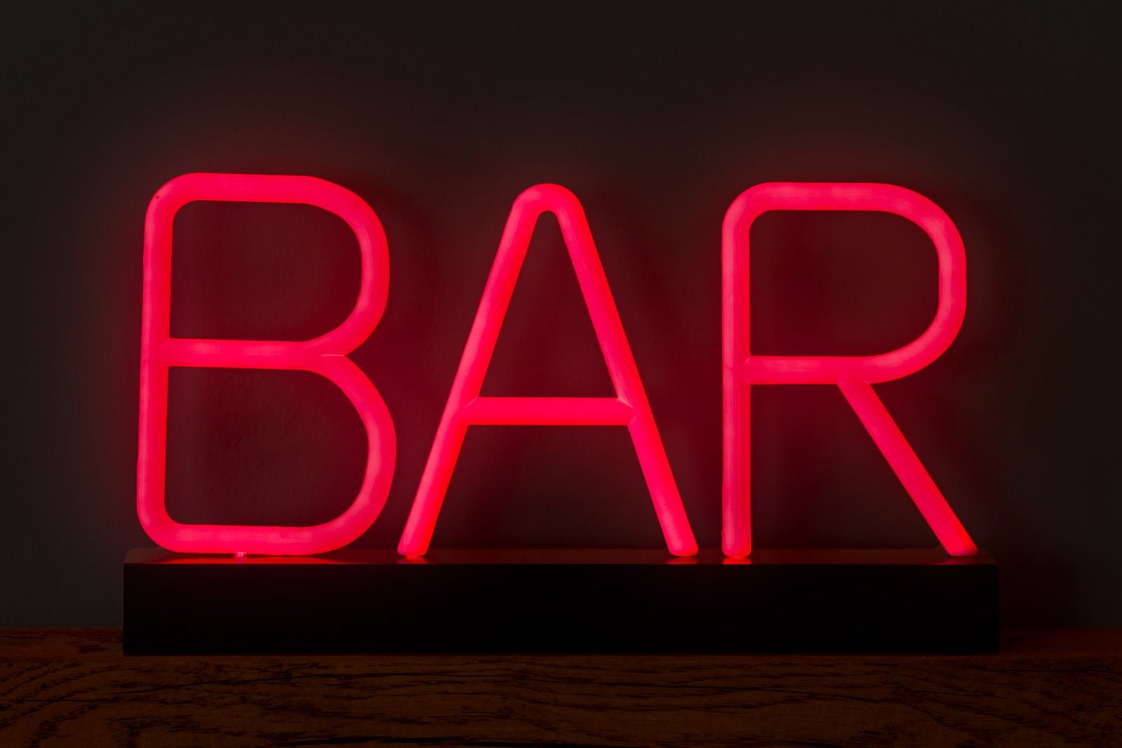 Lumiletter Red Light Neon Bar Sign LED Accessories Home