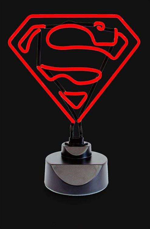Superman classique contour lumi re fluo signe officiel dc - Signe de superman ...