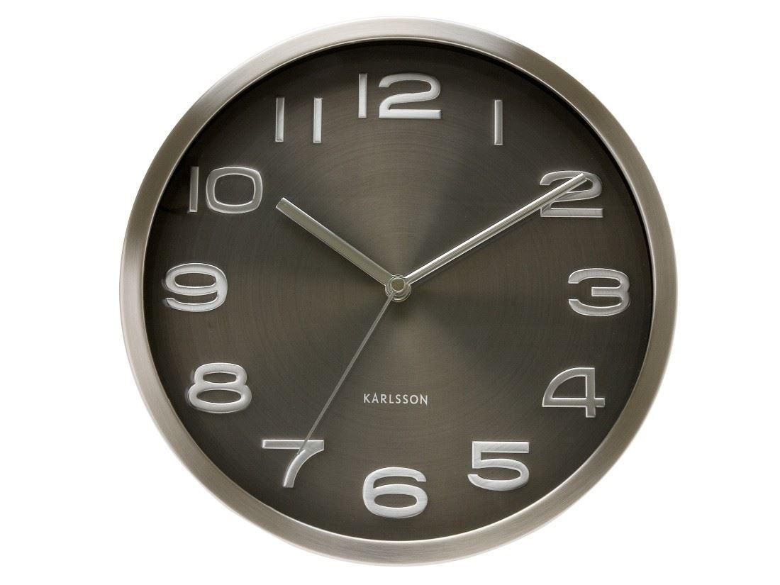 Karlsson maxie horloge murale designer noir contemporaine - Horloge murale contemporaine design ...