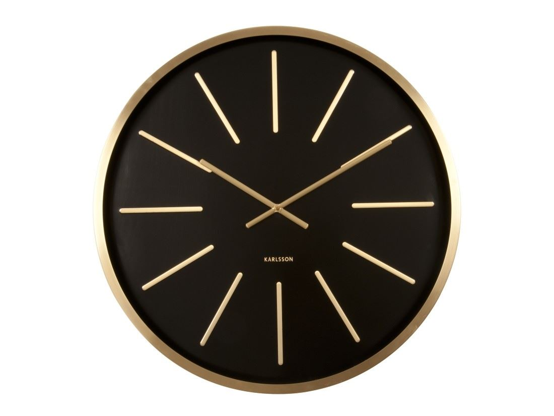 Karlsson Maxiemus Brass Large Living Room Wall Clock