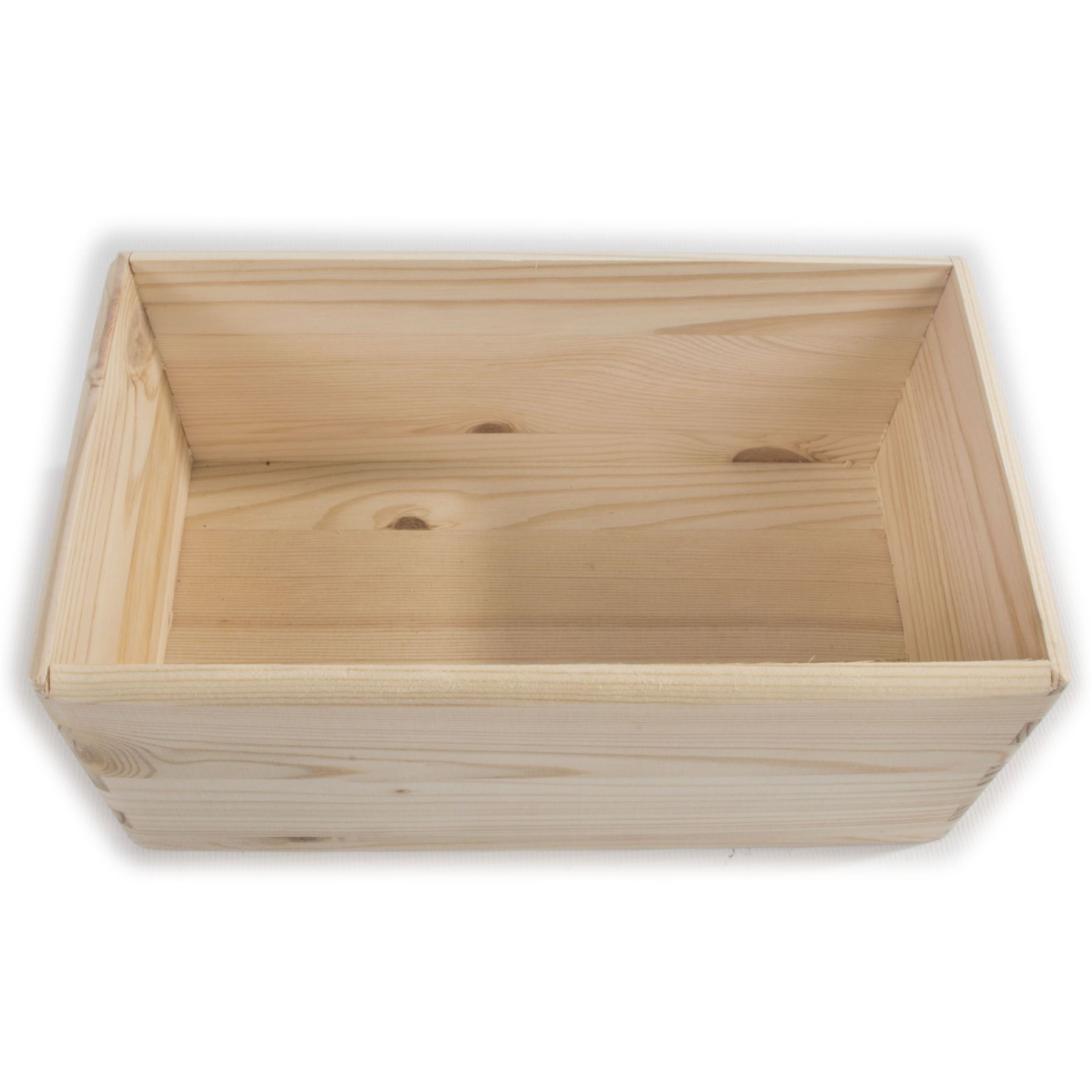Wooden Open Decorative Storage Boxes / 5 Sizes / Small to ...