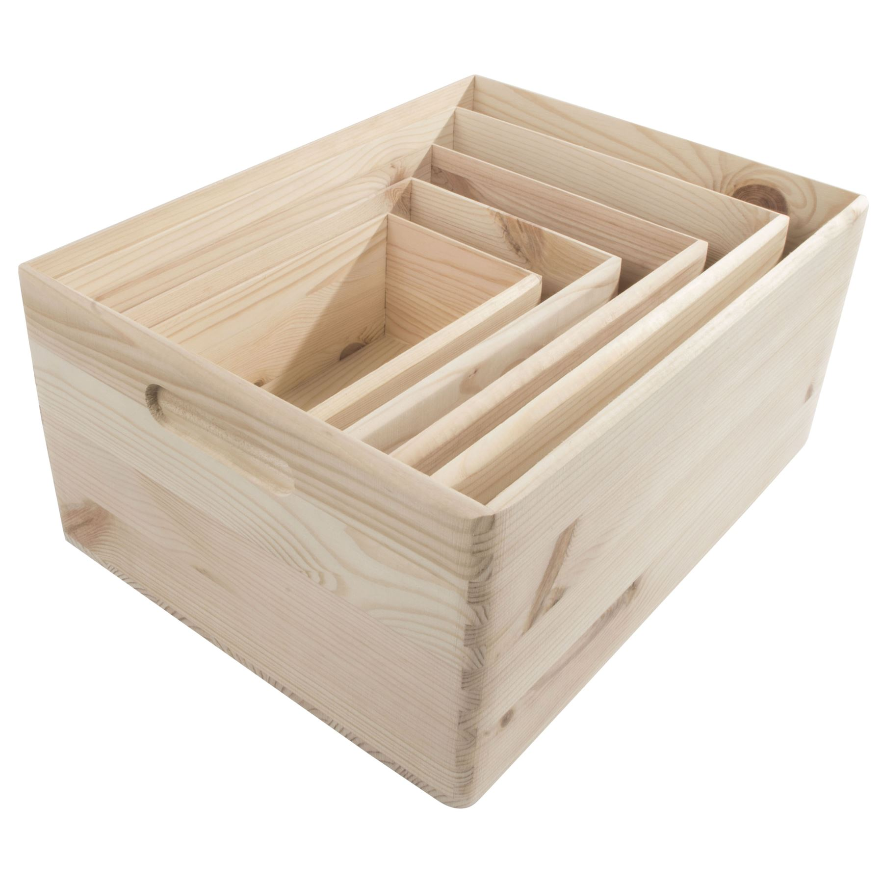 Home Decor Storage Boxes Bins Sundries Household Tray Wood ...
