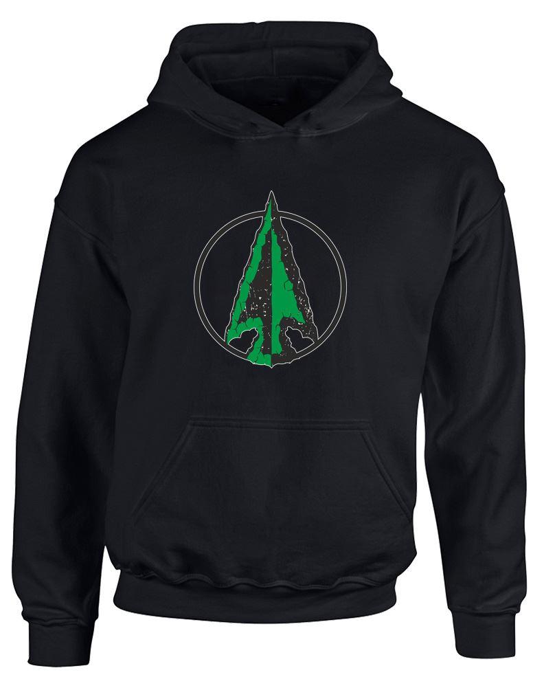 Brand88-Emerald-Arrow-Printed-Kids-Hoodie-Unisex-Hooded-Jumper-Sweatshirt