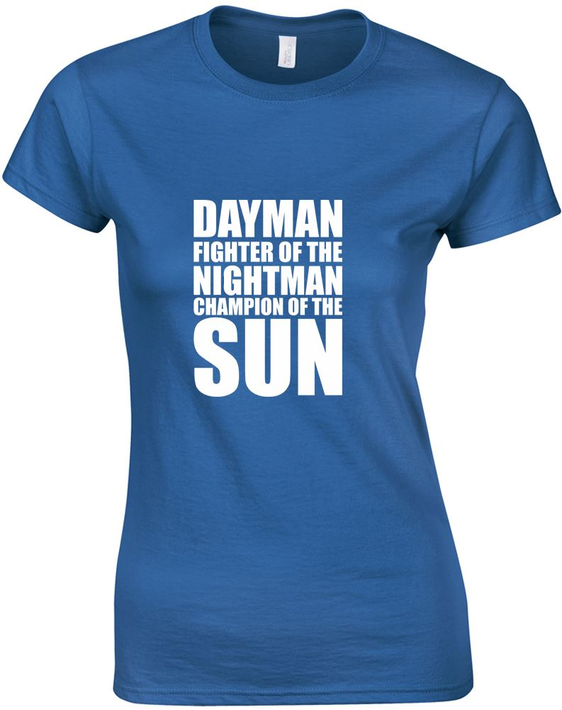 Dayman-Fighter-Of-The-Nightman-Ladies-Printed-T-Shirt-Casual-Soft-Tee-Women-Top thumbnail 6
