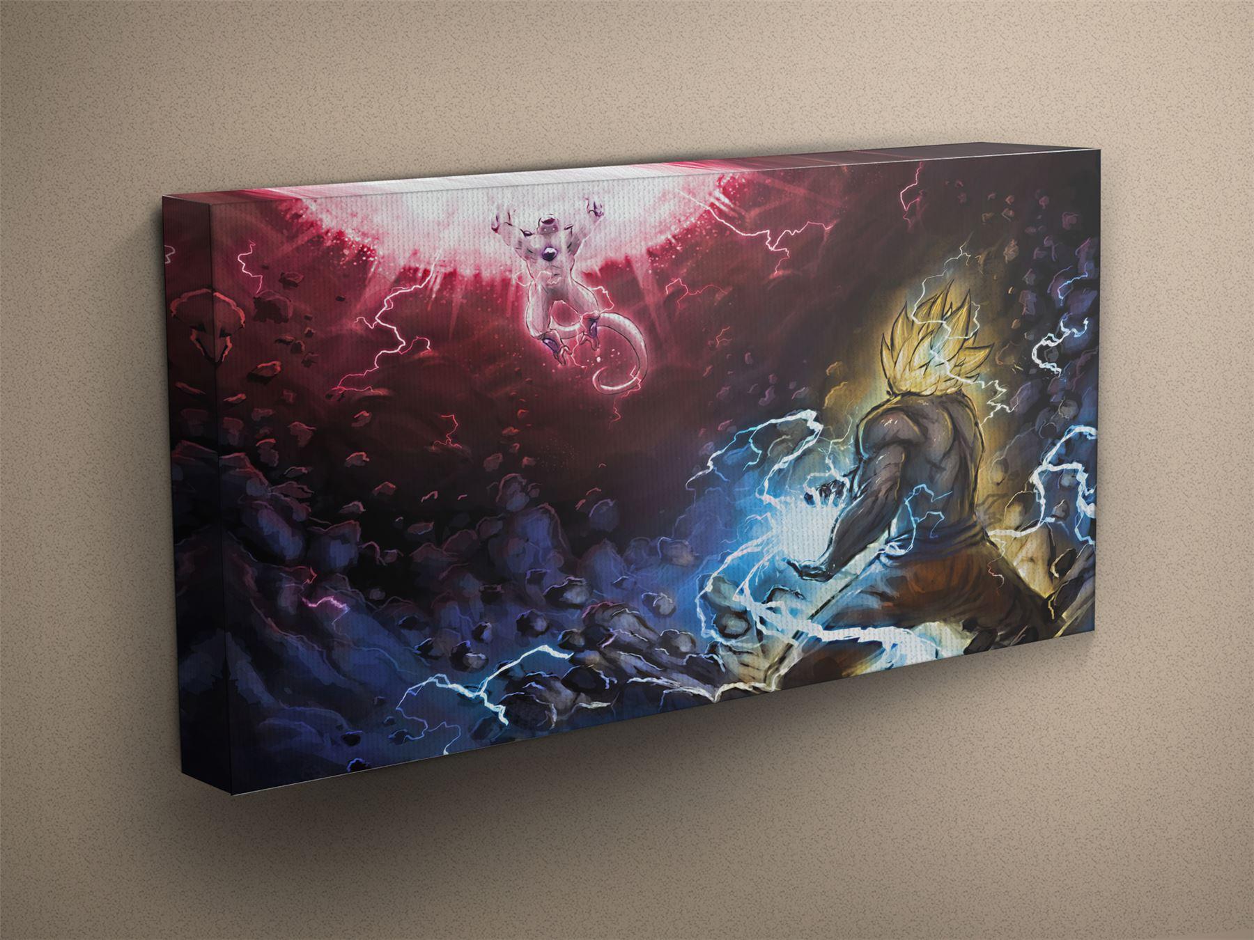 Details about dragon ball z frieza vs goku canvas art print 001860