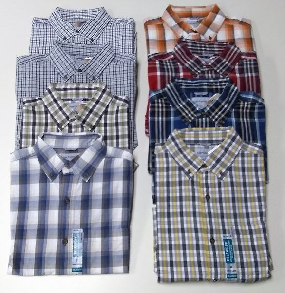 shades of classic fit high fashion Details about New Carhartt Men's Essential Plaid Button Down Short Sleeve  Shirt 101959