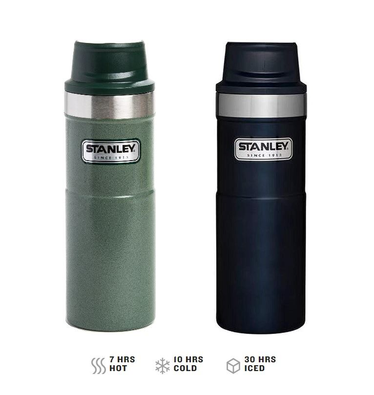 2018 STANLEY Classic One Hand 2.0 Vacuum Mug Thermos Green 16 ounce