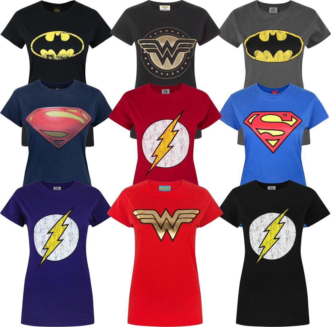 DC Comics Justice League Flash Logo Retro Look Frauen T-Shirt