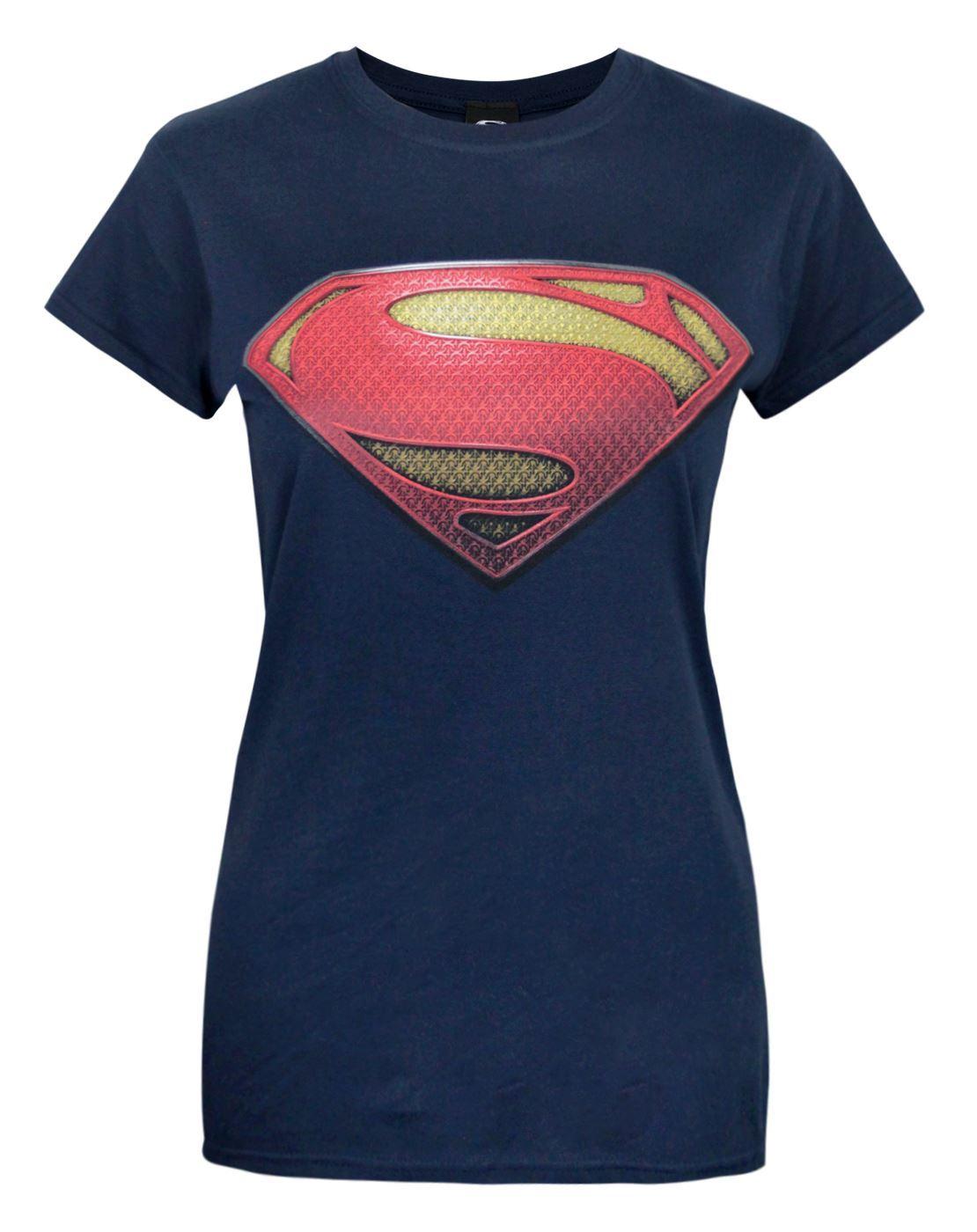 t shirt femme dc comics superheroes superman batman. Black Bedroom Furniture Sets. Home Design Ideas