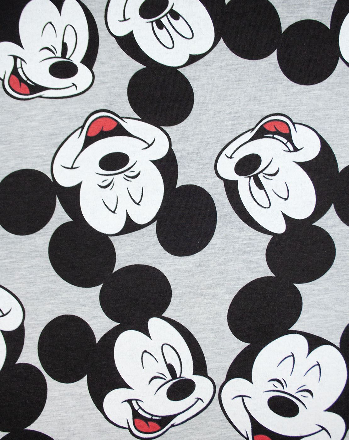 Disney-Mickey-Mouse-Character-All-Over-Women-039-s-Ladies-Boyfriend-Fit-T-Shirt thumbnail 3