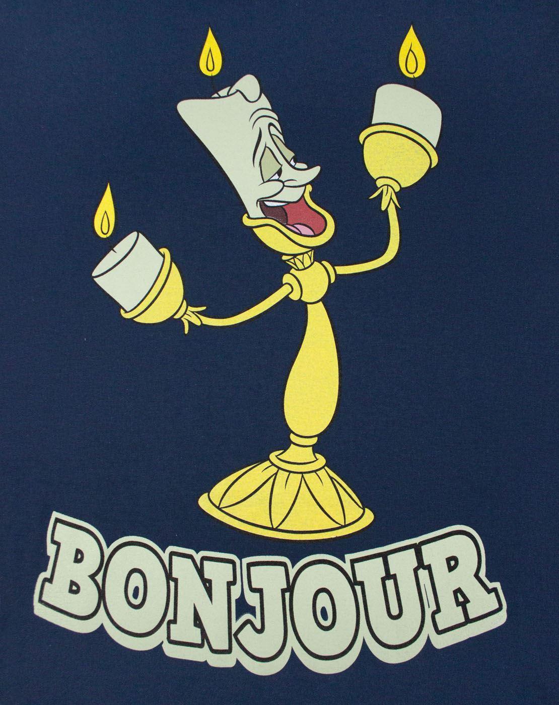 50aa9517e Disney Beauty And The Beast Lumiere Bonjour Men's T-Shirt | eBay