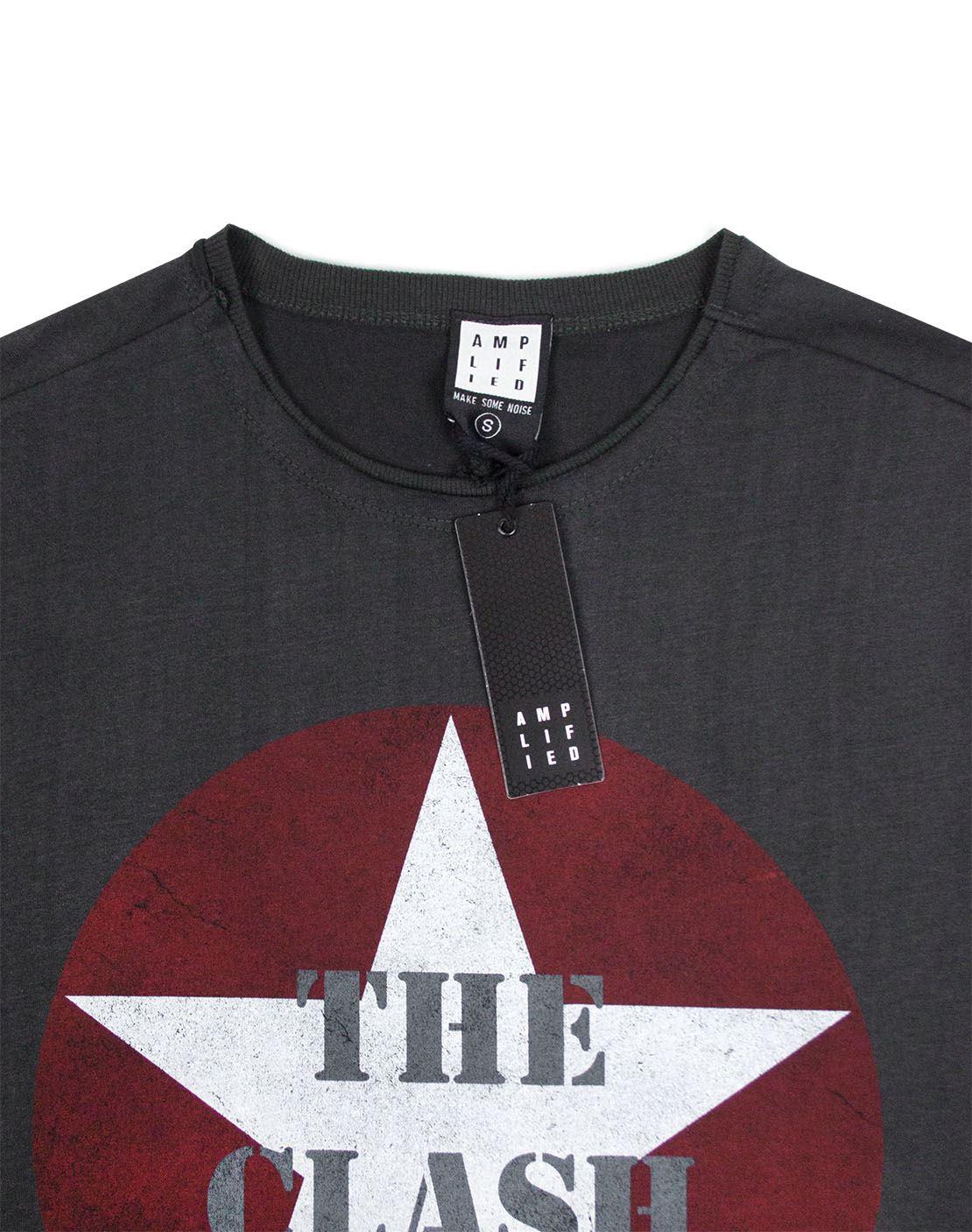 Amplified Metallica Logo Unisexe Charbon T-Shirt