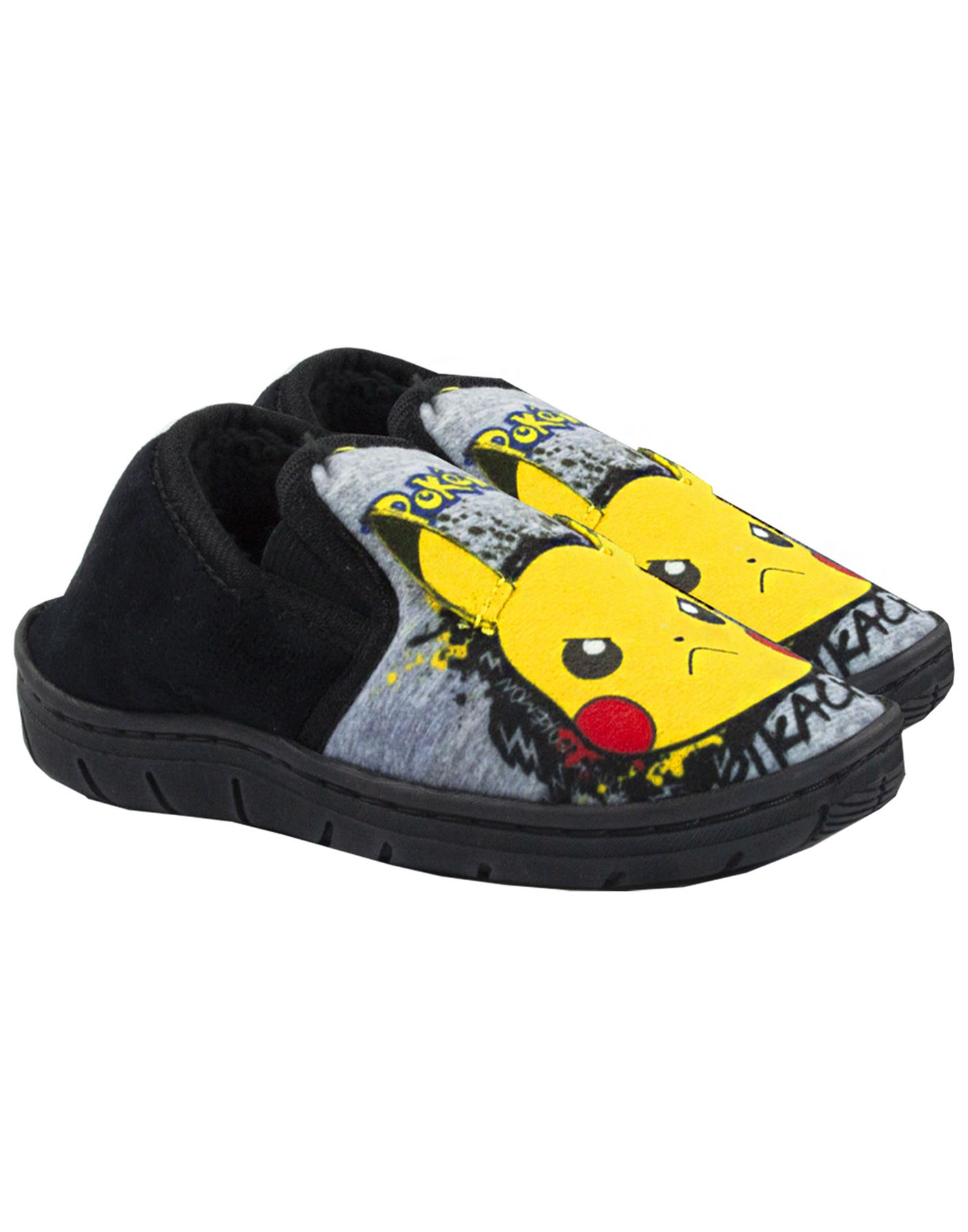 Pantoufles Mocassins Marl Marl Gris Enfant Pokemon Pikachu ...