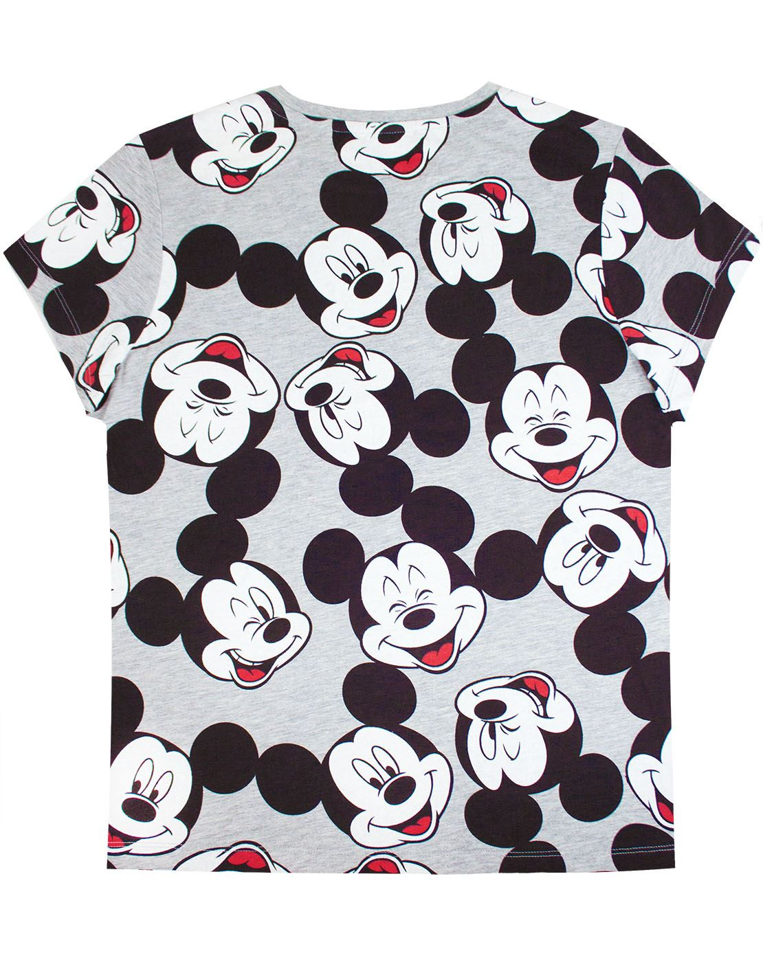 Disney-Mickey-Mouse-Character-All-Over-Women-039-s-Ladies-Boyfriend-Fit-T-Shirt thumbnail 2