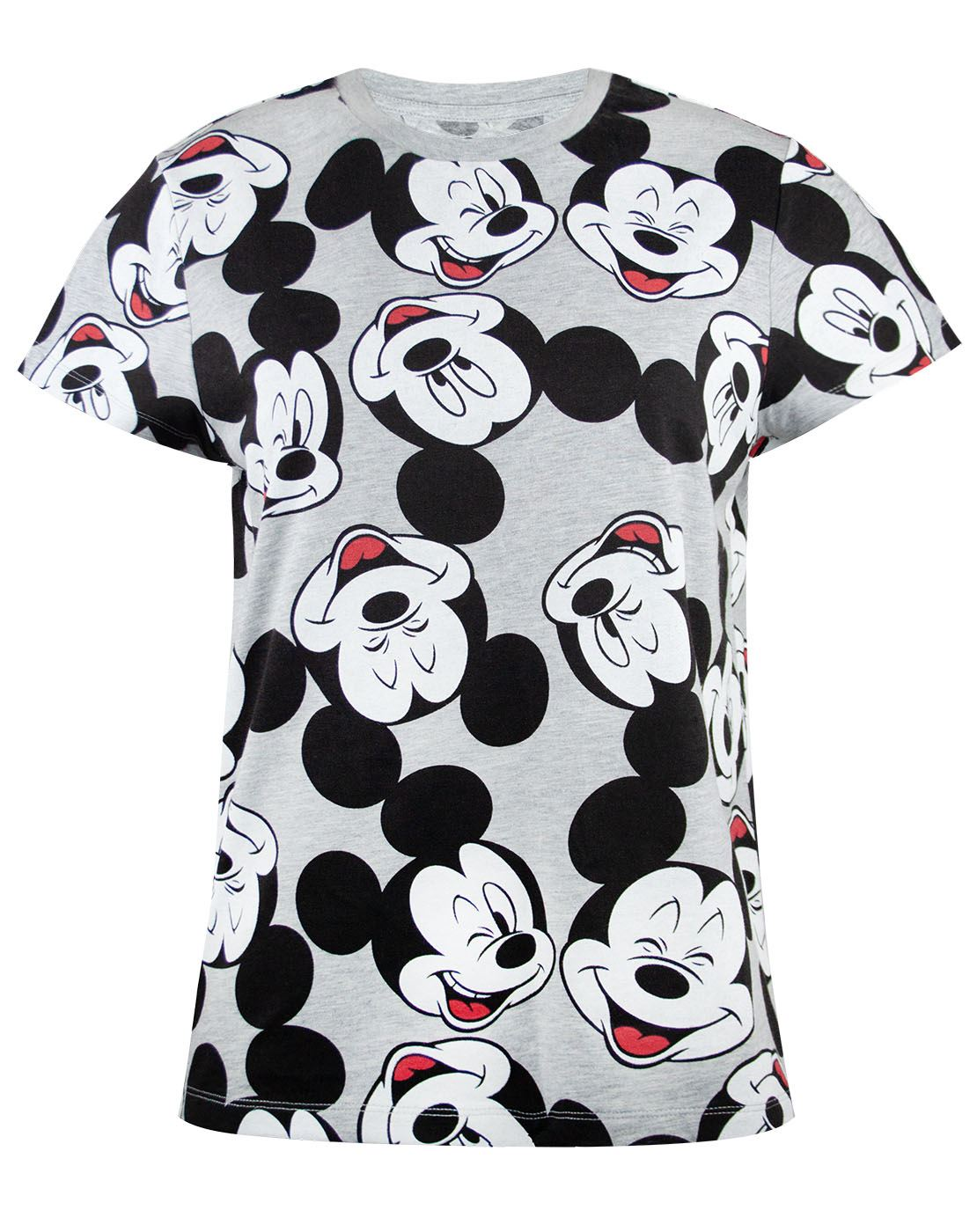 Disney-Mickey-Mouse-Character-All-Over-Women-039-s-Ladies-Boyfriend-Fit-T-Shirt