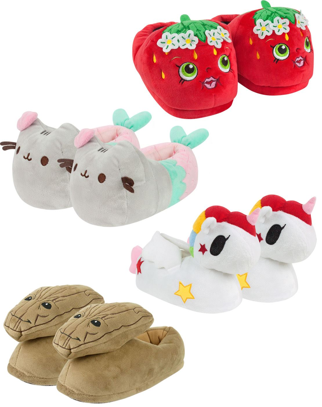 9778a7797f66 Womens 3D Slippers Ladies Size 3-8 (Pusheen