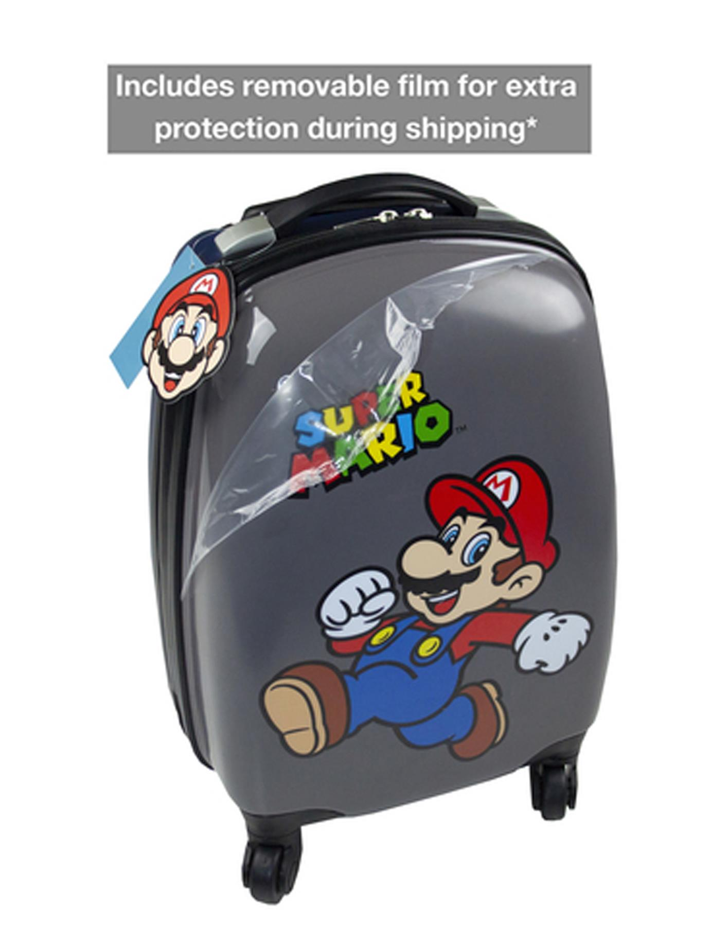 65ebd1a6444014 Super Mario Official Nintendo Game Kid's Hard Carry On Suitcase with Wheels