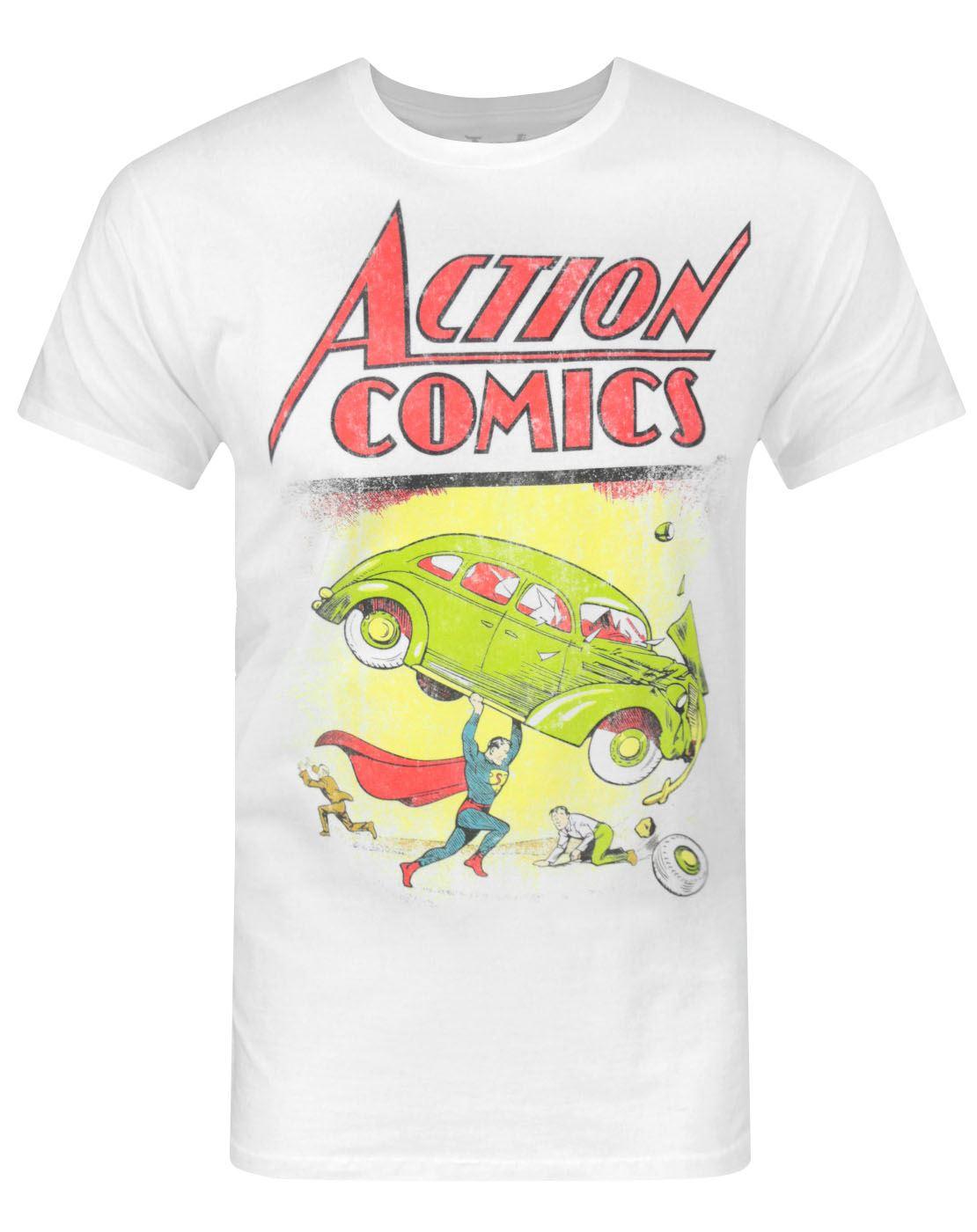 Jack-Of-All-Trades-Superman-Action-Comics-Men-039-s-T-Shirt