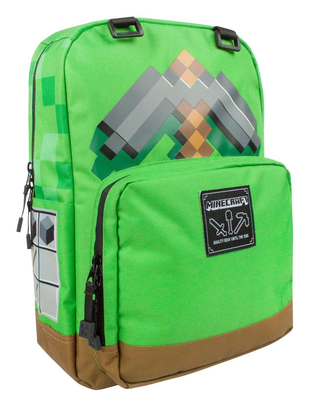 minecraft pickaxe adventure backpack ebay